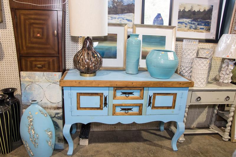 Blue rustic furniture