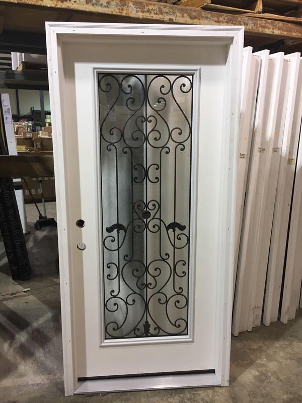 Exterior Door with Grill