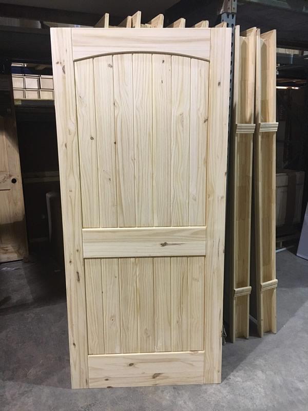 Pine Door Arch Top